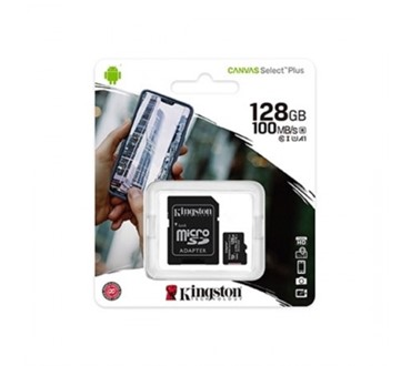 KINGSTON MEMORIJSKA KARTICA MICRO SD 128GB CANVAS PLUS + ADP