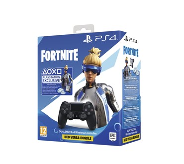 PS4 DUALSHOCK CONTROLLER BLACK V2 + FORTNITE VCH 500 VBUCKS