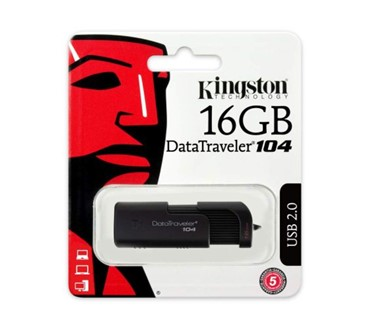 KINGSTON USB 16GB 2.0. DT104
