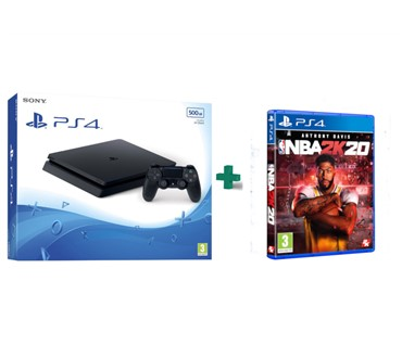 PLAYSTATION 4 SLIM 500 GB + NBA 2K20