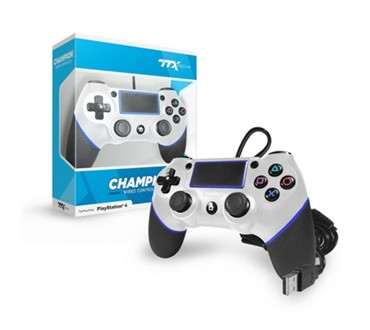TTX PS4 CHAMPION WIRED CONTROLLER WHITE OFFICIAL