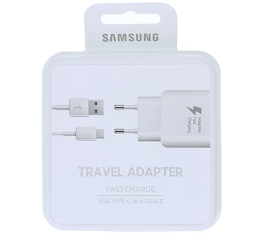 SAMSUNG TRAVEL ADAPTER 2A EP-TA20EWE + TYPE C CABLE