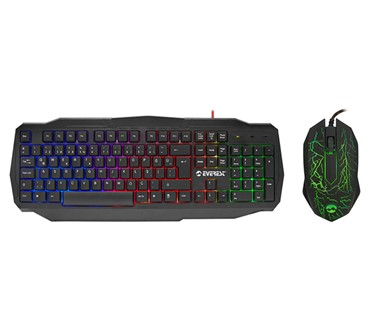 GAMING EVEREST KMX-86 CRNI TASTATURA + MIŠ SET LED RGB US LAYOUT