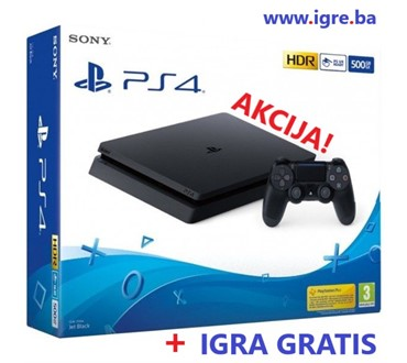 PLAYSTATION 4 500GB F CHASSIS BLACK + HIT IGRA