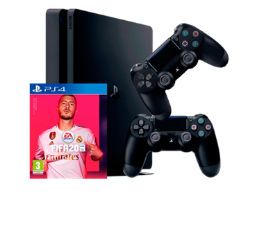 PLAYSTATION 4 SLIM 500 GB + FIFA 20 + DS4