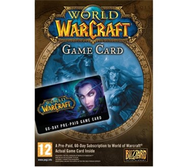 WORLD OF WARCRAFT PREPAID CARDS 60 DAYS PC
